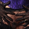 Danica Collins in irresistible ebony lace gloves